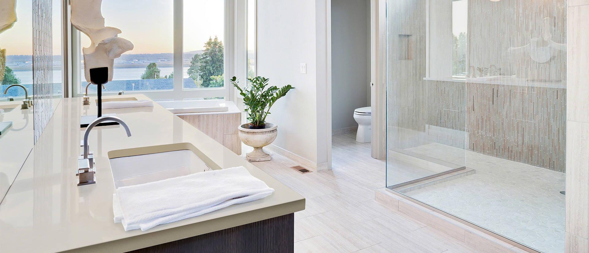 gray quartz for bathroom